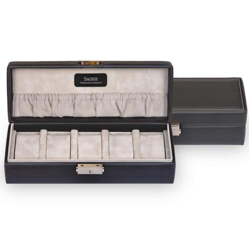 case for 5 watches , black, dollarino