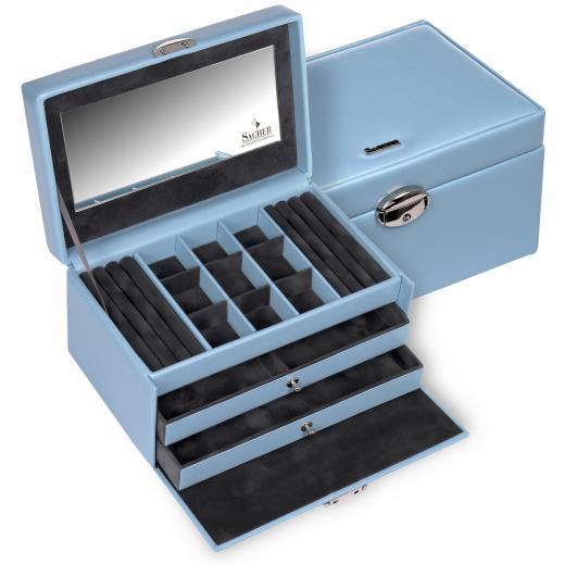 jewellery case Elly, light blue, coloranti