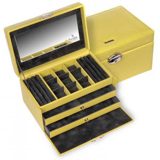 jewellery case Elly, lemon, coloranti