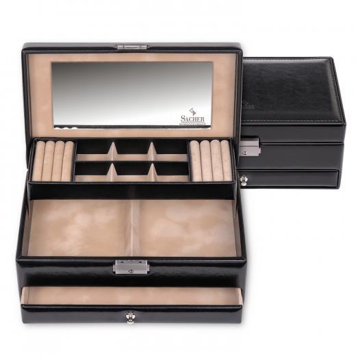 jewellery case Helen, black, new classic