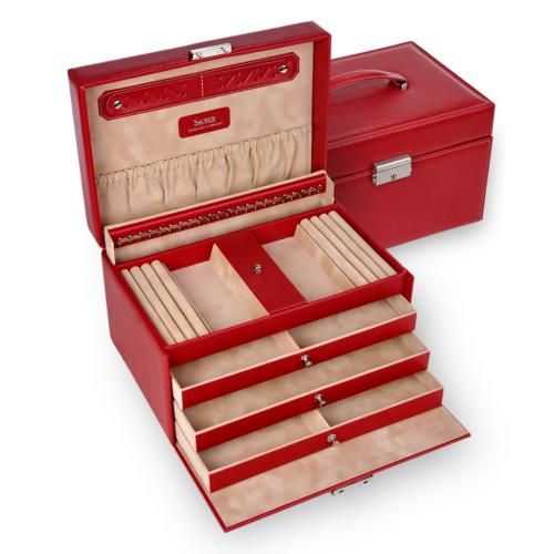*While stock lasts* jewellery case Julia | red | dollarino