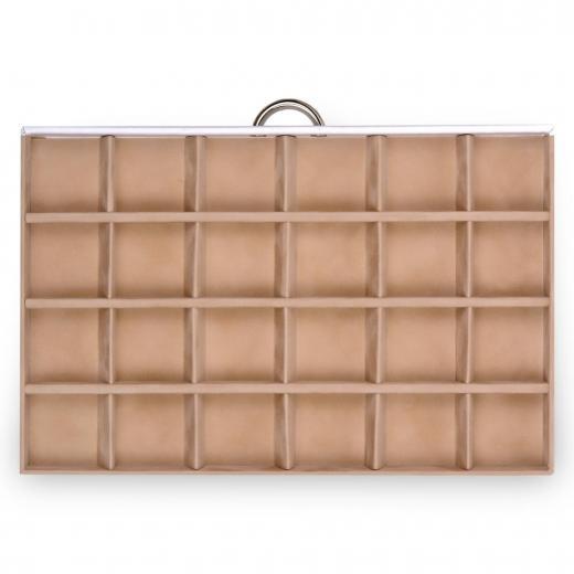 drawer Typ A10 VARIO, leather, white, vario
