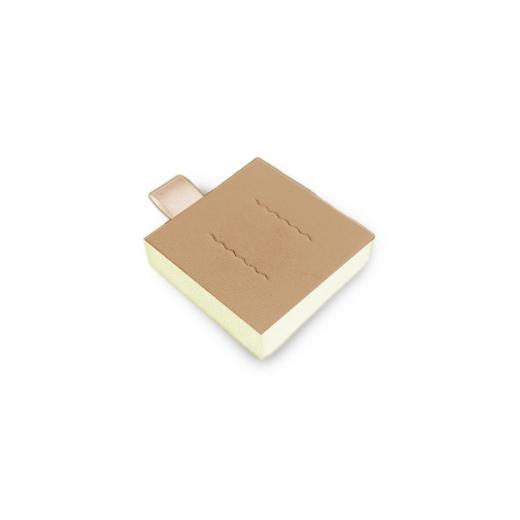 pads for ear studs (6pcs.) , beige, vario