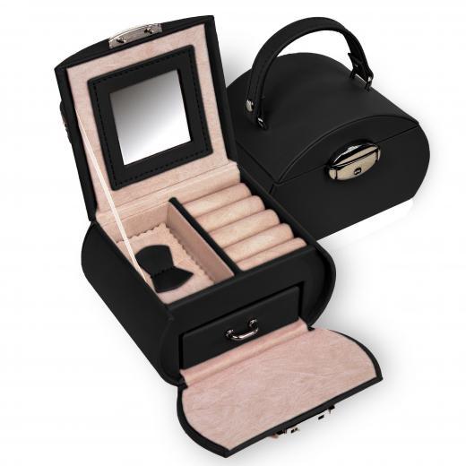 jewellery box Girlie, black, standard