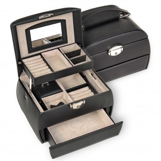 jewellery box Selina, black, standard