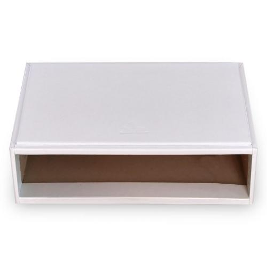 flex-module (without drawers) VARIO, leather, white, vario