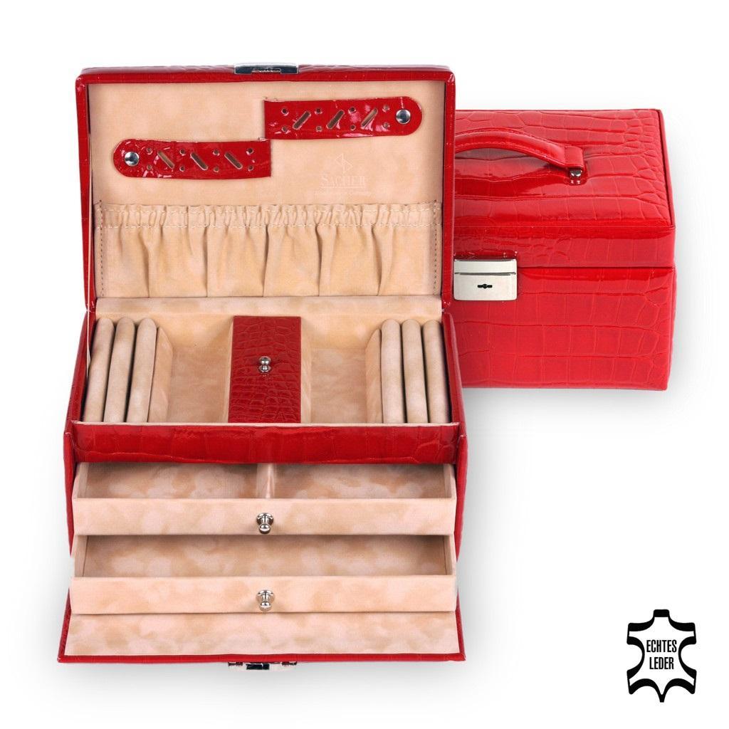 jewellery case Eva/ red (leather)