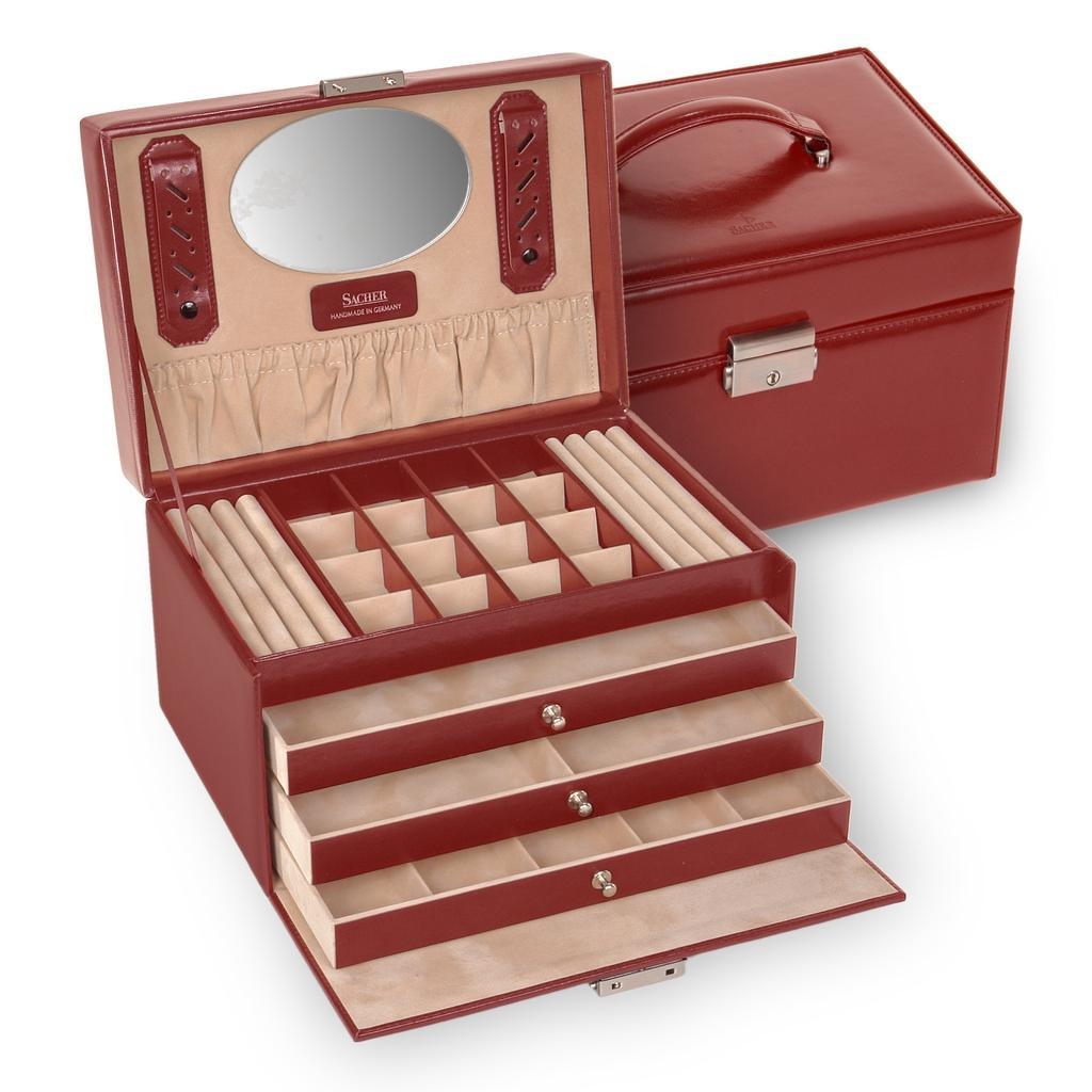 jewellery case Lena/ red