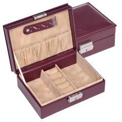 jewellery box Anja, bordeaux, new classic