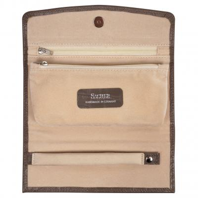 jewellery roll , cowhide-leather, grey, new classic