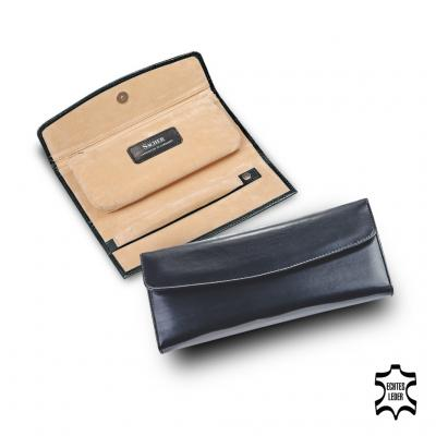 jewellery roll , cowhide leather, black, new classic