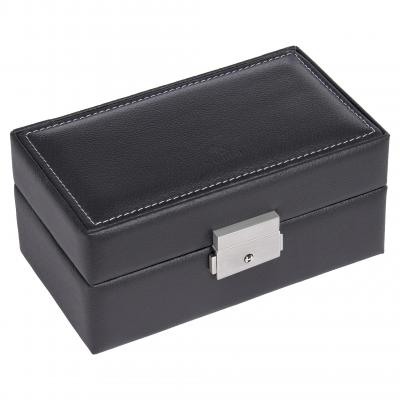 case for 3 watches , leather, black, tamigi sport