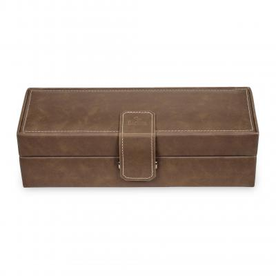 *While stock lasts* case for 5 watches , brown, ranch