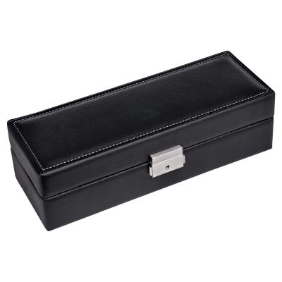 case for 5 watches , leather | black | tamigi sport