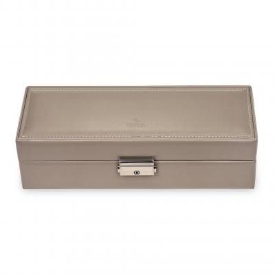 case for 5 watches / taupe (leather)