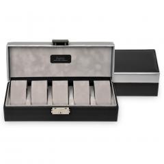 case for 5 watches , black, carvon