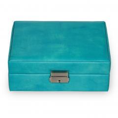 *While stock lasts* jewellery box Britta, turquoise, coloranti