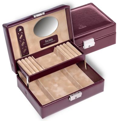 jewellery box Britta/ bordeaux