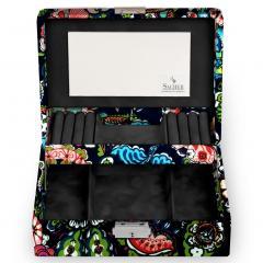 jewellery box Britta, dark blue, fiore