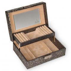 jewellery box Britta, anthracite, tulle