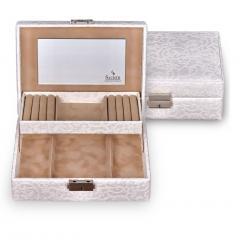 jewellery box Britta, white, tulle