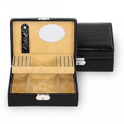 jewellery box Britta/ black (leather)