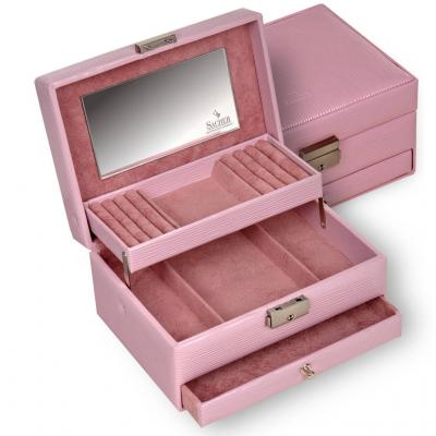 *While stock lasts* jewellery box Carola, rosé, verona lac