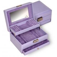 jewellery box Carola/ lilac
