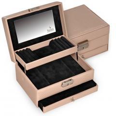 *While stock lasts* jewellery box Carola, beige, verona lac