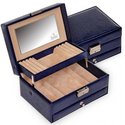 *While stock lasts* jewellery box Carola, navy, verona lac