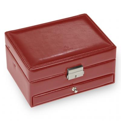 jewellery box Carola, red, new classic