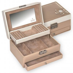 jewellery box Carola/ beige