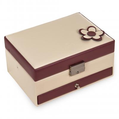 *While stock lasts* jewellery box Carola, cream-berry, bella fiore