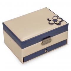 *While stock lasts* jewellery box Carola | cream-blue | bella fiore