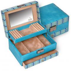 jewellery box Carola/ turquoise