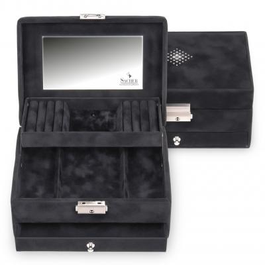 jewellery box Carola, black, crystalo mit Swarovski® Kristallen