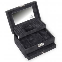 jewellery box Carola, black, crystalo