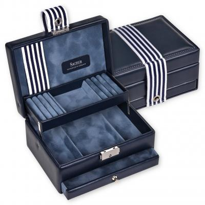 jewellery box Carola, navy, young