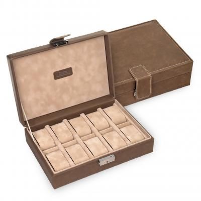 case for 10 watches / brown