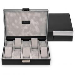 case for 10 watches , black, carvon
