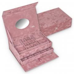 safe box , old rose, crystalo mit Swarovski® Kristallen