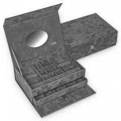 safe box , grey, crystalo mit Swarovski® Kristallen