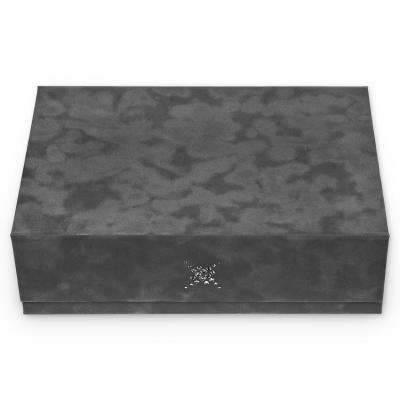 safe box , grey, crystalo mit Swarovski® Kristallen