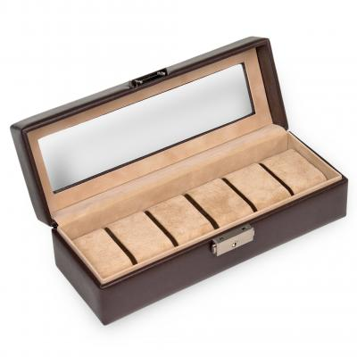case for 6 watches , mocca, new classic