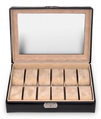 case for 12 watches , black, new classic