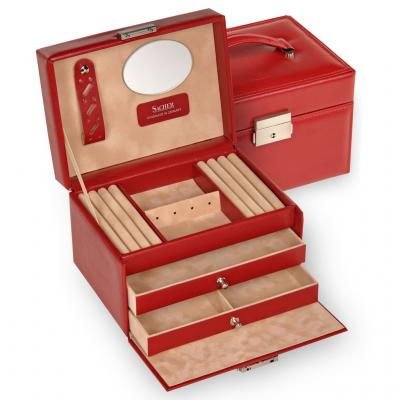 jewellery box Eileen/ red
