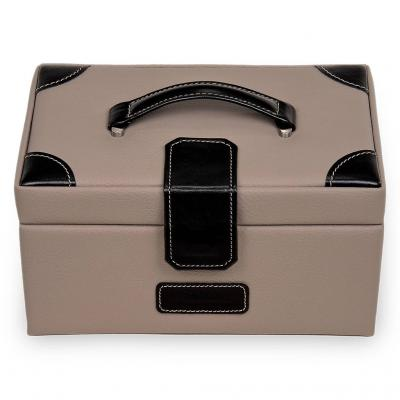 *While stock lasts* jewellery case Elly | taupe | ledro