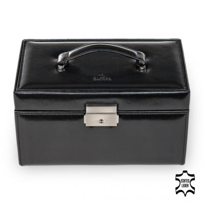 jewellery case Elly, leather, black, new classic