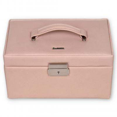 jewellery case Elly, leather | rose | pastello
