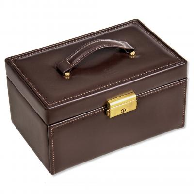 *While stock lasts* jewellery case Elly, leather, brown, nature